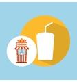 cinema movie ticket office cup soda graphic vector image vector image