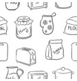 collection stock of kitchen set hand draw vector image vector image