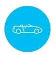 Convertible car line icon vector image