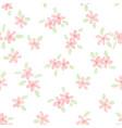 cute watercolor pink plumeria seamless pattern vector image