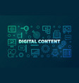 digital content outline bright horizontal vector image vector image