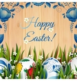 Easter Folk Card vector image vector image