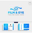 eye cinema studio entertaintment simple logo vector image vector image