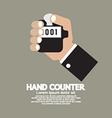 Flat Design Hand Counter vector image