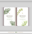 floral watercolor card with leaves vector image vector image