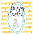 happy easter hand drawn greeting card vector image