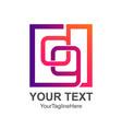 initial letter dg logo design template element vector image vector image