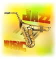 Jazz music background saxophone and trumpet vector image vector image