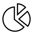 line pie chart icon vector image