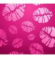 lipstick Kiss shape pattern vector image vector image