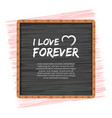 love or valentines day concept vector image