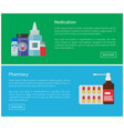medication pharmacy poster vector image