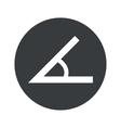 Monochrome round angle icon vector image