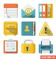 OfficeFlat icons vector image vector image