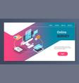 online testing questionnaire form survey concept vector image