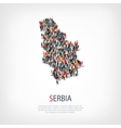 people map country serbia vector image