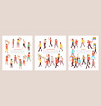protest isometric composition vector image vector image