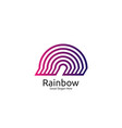rainbow logo icon symbol abstract dome vector image vector image