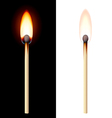 Realistic burning match vector image
