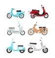 Retro scooter vector image vector image