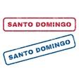 Santo Domingo Rubber Stamps vector image vector image
