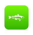 sea fish icon green vector image vector image