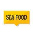 sea food price tag vector image vector image