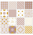 seamless patterns gold polka dots set vector image vector image
