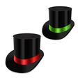 set gentleman hat cylinder with ribbon vector image vector image