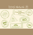 set of stamps print in retro style for farm food vector image