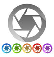 shutter icon shutter symbol for photography vector image vector image