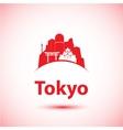 silhouette modern tokyo city skyline vector image vector image