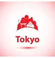 silhouette of modern Tokyo City skyline vector image vector image