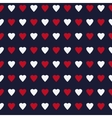 Simple and cute varicolored hearts seamless vector image vector image