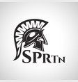 spartan warrior logo vector image