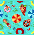 summer pool seamless pattern vector image