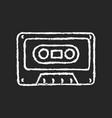 tape cassette chalk white icon on dark background vector image