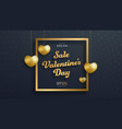 template of black banner for sale on valentines vector image vector image