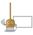 thumbs up with board rake character cartoon style vector image