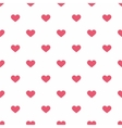 Tile pattern with pink hearts on white background vector image vector image