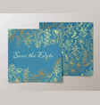 trendy card with flower for weddings save the vector image vector image