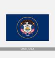 utah usa state flag ut usa vector image
