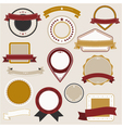 vintage badges colors vector image