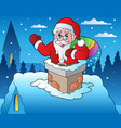winter scene with christmas theme 4 vector image vector image