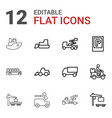 12 vehicle icons vector image vector image