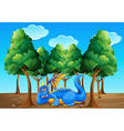 A dragon under the trees vector image vector image