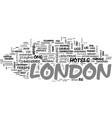 a quick guide to london text word cloud concept vector image vector image
