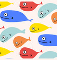 abstract colorful fish pattern background vector image vector image