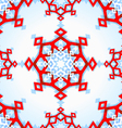 Abstract geometric snowflake vector image
