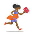 african lifeguard running with first aid box vector image vector image